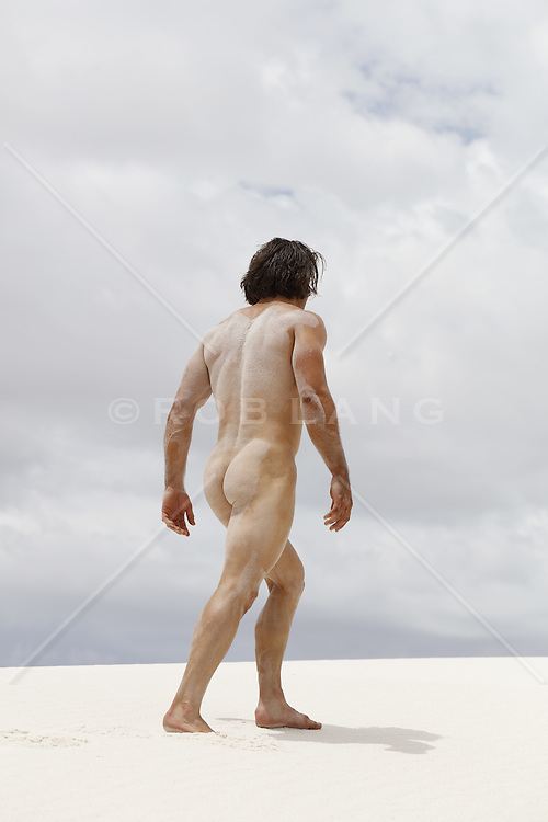 male nude outdoors in desert
