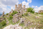 Rocca Calascio, a mountaintop fortress in the Province of L'Aquila in Abruzzo, Italy, on June 1, 2017.