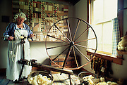 Woman spinning, Millbrook Village, NJ.