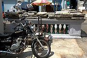 Rustic street scene in Little India, Singapore