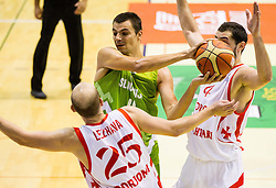 Jure Balazic of Slovenia during friendly basketball match between National teams of Slovenia and Georgia in day 2 of Adecco Cup 2014, on July 25, 2014 in Dvorana OS 1, Murska Sobota, Slovenia. Photo by Vid Ponikvar / Sportida.com