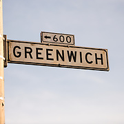 Street sign for Greenwich Street in San Francisco's North Beach neighborhood.