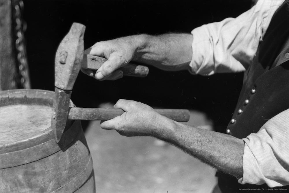 Repairing Barrels, Molln, Austria, 1935