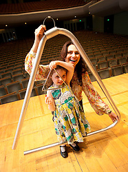Repro Free: 28/08/2012.Corina Grant with her daughter Caraleigh (aged 4) try out the some of the music instruments at The National Concert Hall in advance of MiniMusic starting in September. MiniMusic is an action-packed music workshop experience for babies and young children aged 3 months to 5 years old, which runs for 10 weeks at The National Concert Hall. More information on nch.ie?. Pic Jason Clarke Photography.