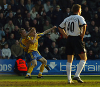 Picture: Jed Leicester<br />Date: 15/03/2003<br />Fulham  v Southampton FA Barclaycard Premiership<br /><br />Southampton's Michael Svensson with Brett Ormorod celebrates scoring the winner in the dying few seconds