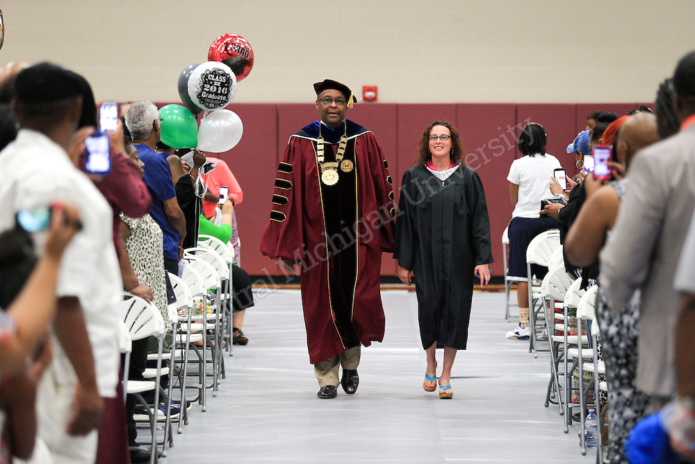Dr. George E. Ross was the guest speaker at the Central Michigan University administered charter school International Academy of Flint on Saturday June 4, 2016 in Flint, MI.  Central Michigan University photos by Steve Jessmore
