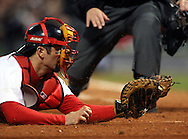 Jason Varitek attempts a tag at home, 2004 Boston Red Sox, make a run at history getting through a tough fight with the New York Yankees and then eventually sweeping the St. Louis Cardinals for the World Series title.