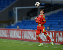 Declan John of Wales u21s (Cardiff City) - Photo mandatory by-line: Alex James/JMP - Mobile: 07966 386802 - 31/03/2015 - SPORT - Football - Cardiff - Cardiff City Stadium - Wales v Bulgaria - U21s International Friendly