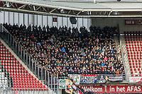 ALKMAAR - 11-12-2016, AZ -  Feyenoord, AFAS Stadion, 0-4, uitvak, supporters.