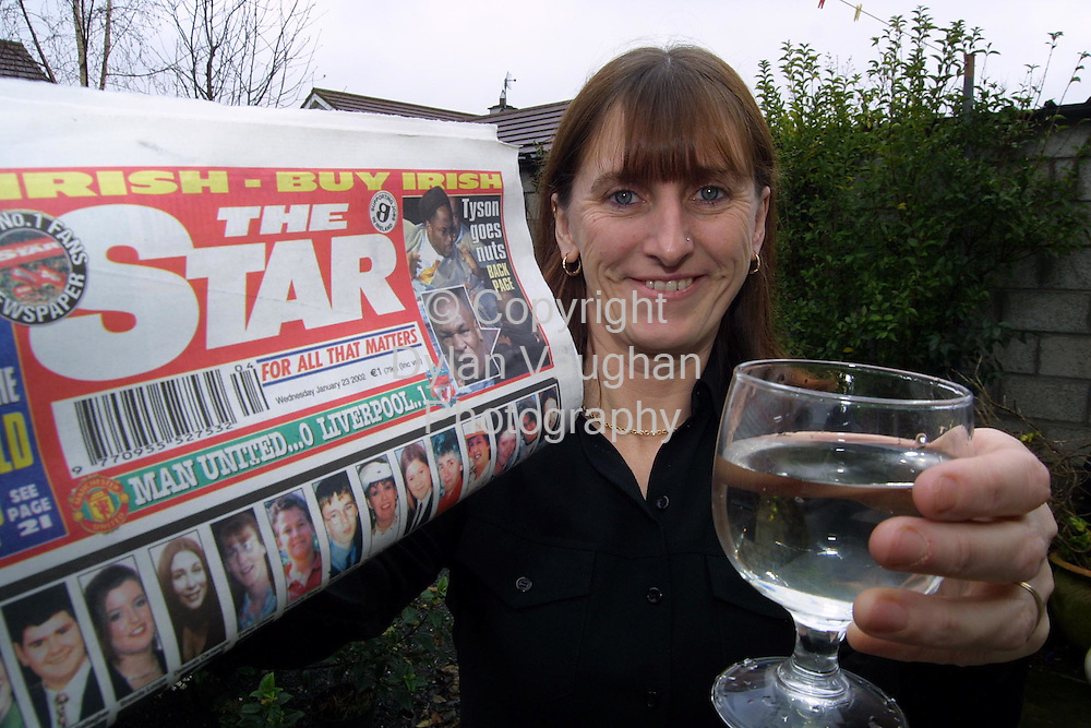 23/1/2001 The Star.Susan Kelly pictured in Kilkenny after winning a holiday with the Star..Picture Dylan Vaughan