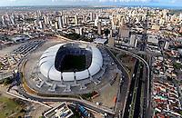 "Football Fifa World Cup Brazil 2014 / <br /> Natal - Rio Grande do Norte  - Brazil - <br /> Opening Match and Cerimony of New Stadium "" Arena Das Dunas Stadium "" , Ready for the next  <br /> FIFA World Cup Brazil 2014  , and able to accommodate a capacity of 42.086 Spectators"