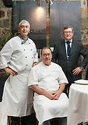The three Arbelaitz brothers at Zuberoa restaurant, in Oiartzun, Spain.