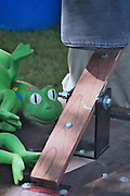 Photo by Leandra  Melgreen Lewis of children's frog game at annual church picnic in Catawissa.