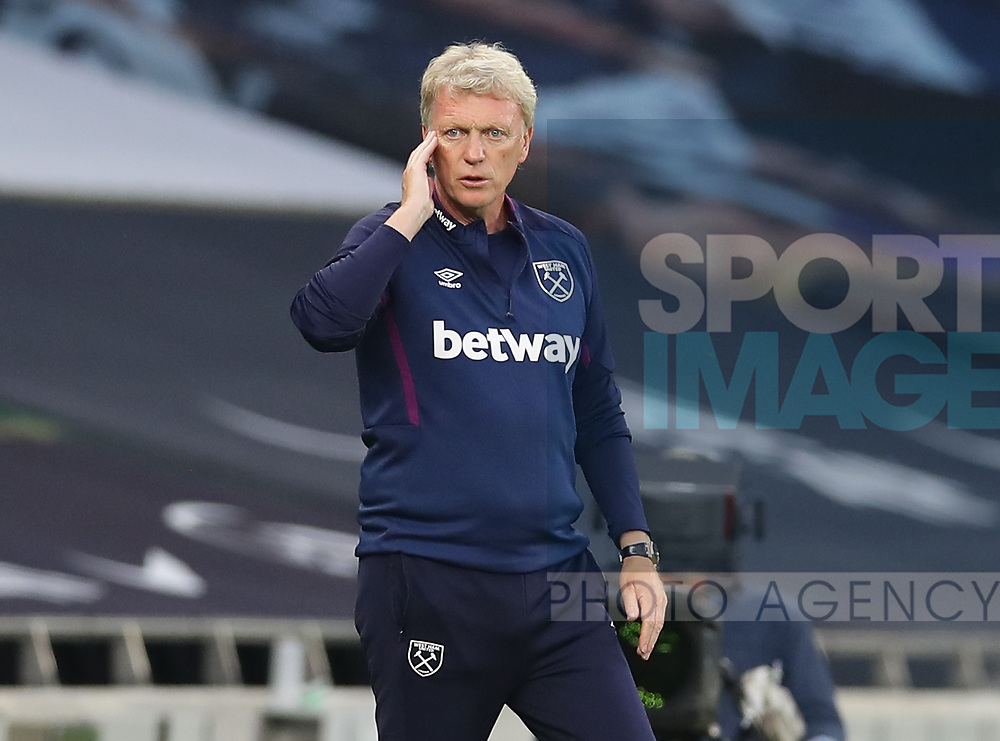 David Moyes manager of West Ham United  during the Premier League match at the Tottenham Hotspur Stadium, London. Picture date: 23rd June 2020. Picture credit should read: David Klein/Sportimage