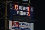 31st October 2018, Kilmac Stadium, Dundee, Scotland; Ladbrokes Premiership football, Dundee v Celtic; Full time scoreboard