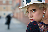 UK. London. Supermodel and actress, Agyness Deyn photographed in Convent Garden.