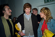 TIM WINTER, JESSIE WINE AND SAMORA SCOTT. Happiness- Private view of work by Barry Reigate. Paradise Row, London and afterwards at Mark hix's new restaurant. ix Oyster and Chop House, 37-37 Greenhill Rents, Cowcross St, EC1. 14 March 2008. <br />