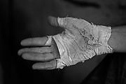 Climber's hand, Long Canyon, Moab, Utah