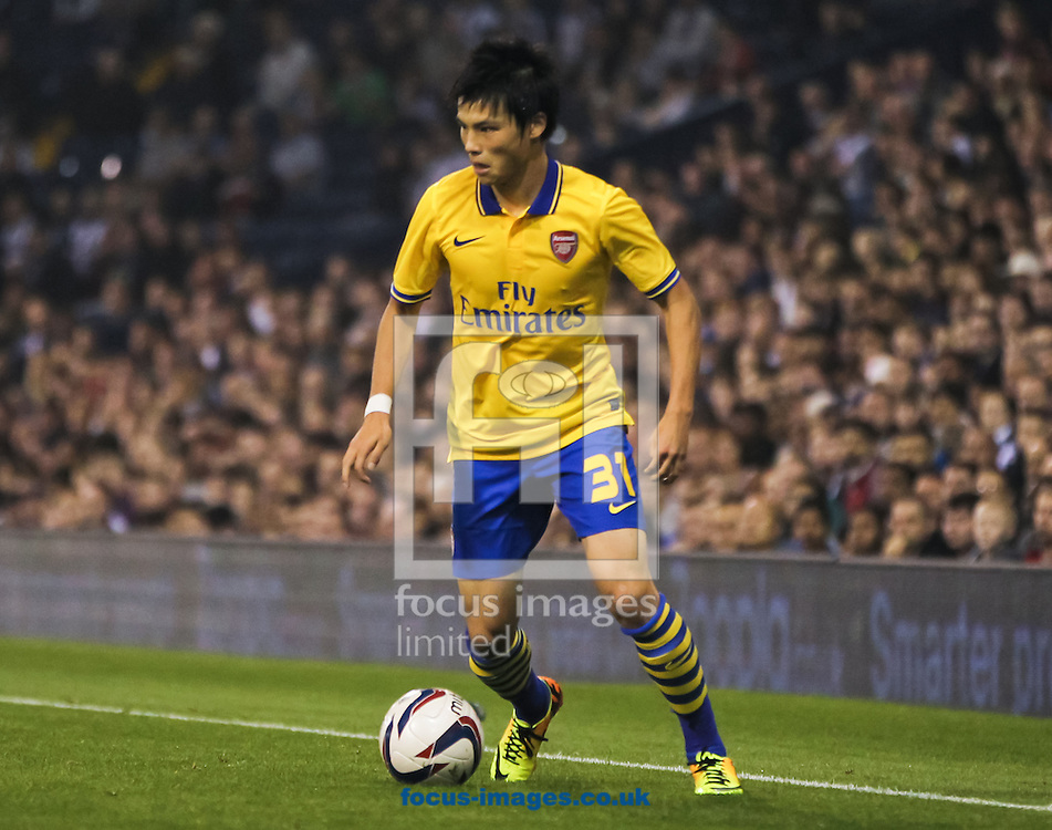 Picture by Tom Smith/Focus Images Ltd 07545141164<br /> 25/09/2013<br /> Ryo Miyaichi of Arsenal in possession of the ball during the Capital One Cup match at The Hawthorns, West Bromwich.