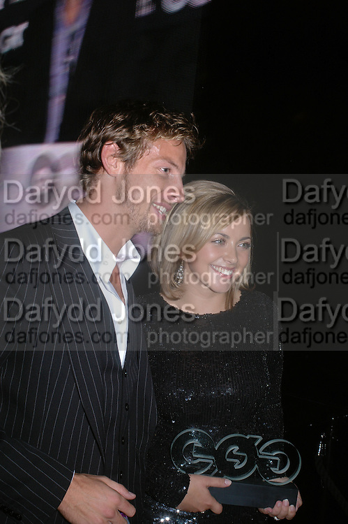 Jenson Button and Charlotte Church. GQ Men Of The Year Awards at the Royal Opera House, London. September 6, 2005 in London, England, ONE TIME USE ONLY - DO NOT ARCHIVE  © Copyright Photograph by Dafydd Jones 66 Stockwell Park Rd. London SW9 0DA Tel 020 7733 0108 www.dafjones.com