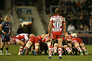 H Purdy during the Aviva Premiership match between Sale Sharks and Gloucester Rugby at the AJ Bell Stadium, Eccles, United Kingdom on 29 September 2017. Photo by George Franks.
