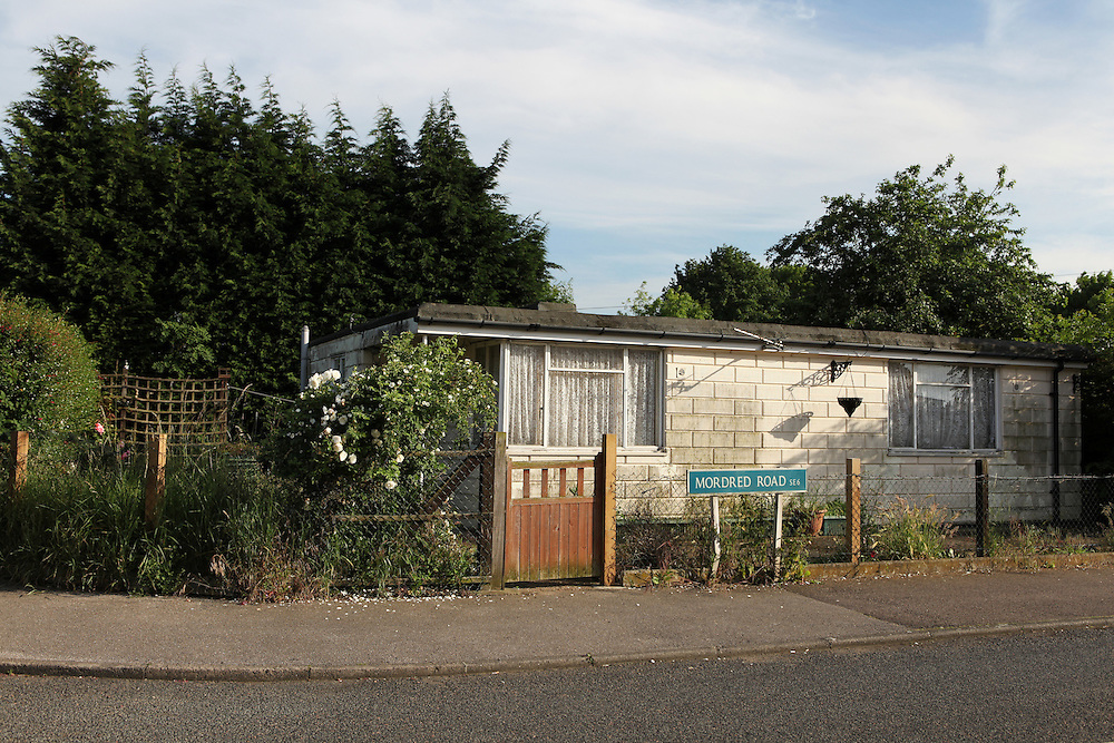 Post-war prefabricated house at the Excalibur Estate, in Catford, South London. The 186 uni-seco prefabs were built in 1946 by German and Italian prisoners of war