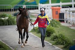 Andrade Emanuel, VEN, Hardrock Z<br /> Horse Inspection Jumping<br /> Olympic Games Rio 2016<br /> © Hippo Foto - Dirk Caremans<br /> 12/08/16