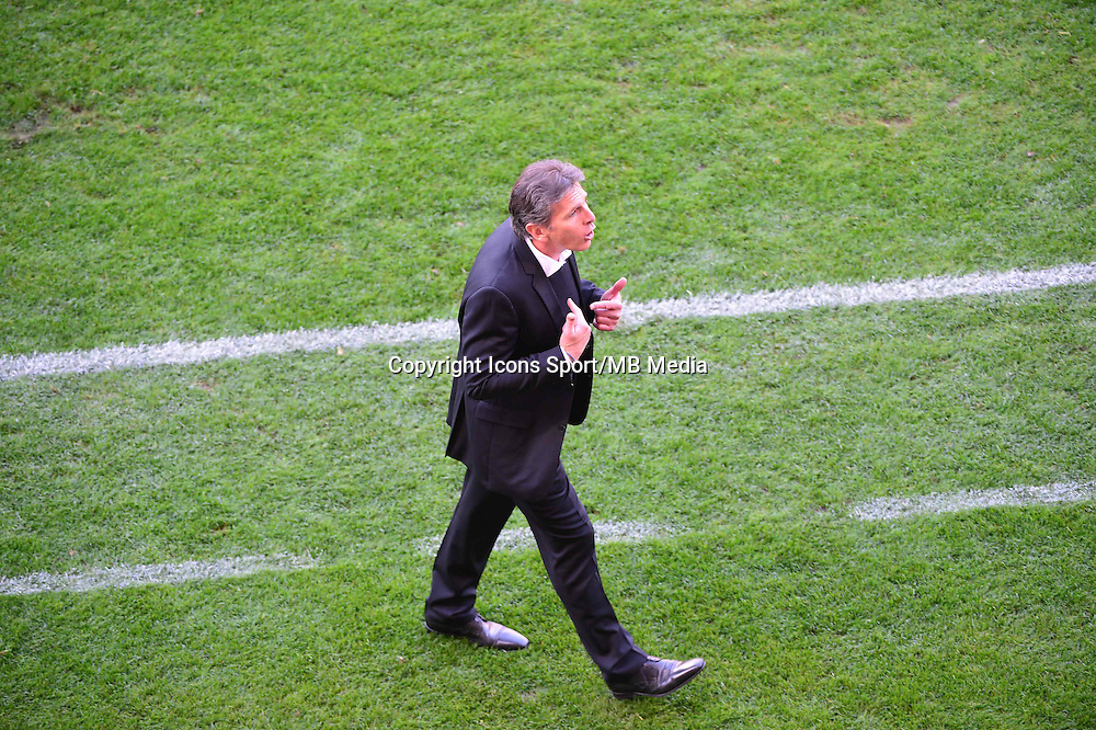Expulsion de Claude PUEL   - 12.04.2015 - Reims / Nice - 32eme journee de Ligue 1 <br />