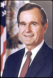Washington, D.C. - Official portrait of the 41st President of the United States George H.W. Bush taken in 1989. Photo by White House via CNP/ABACAPRESS.COM