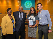 Trustee Rhonda Skillern-Jones is recognized  by the ProUnitas Kashmere Trinity Gardens Community Council during a meeting of Houston ISD Board of Trustees, September 8, 2016.