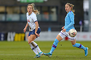 Tottenham Hotspur Women winger Gemma Davison (7),  Manchester City striker Women Janine Beckie (11), during the FA Women's Super League match between Tottenham Hotspur Women and Manchester City Women at the Hive, Barnet, United Kingdom on 5 January 2020.