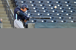 May 28, 2018 - Tampa, FL, U.S. - TAMPA, FL - MAY 23: Josh Lowe (28) of the Stone Crabs at bat during the Florida State League game between the Charlotte Stone Crabs and the Tampa Tarpons on May 23, 2018, at Steinbrenner Field in Tampa, FL. (Photo by Cliff Welch/Icon Sportswire) (Credit Image: © Cliff Welch/Icon SMI via ZUMA Press)