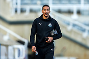 Isaac Hayden (#14) of Newcastle United arrives ahead of the Premier League match between Newcastle United and Huddersfield Town at St. James's Park, Newcastle, England on 23 February 2019.
