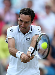 Russia's Mikhail Kukushkin during day five of the Nature Valley International at Devonshire Park, Eastbourne.