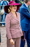 ARNHEM - Koningin Maxima opent het vernieuwde Musis in Arnhem. De historische Muzenzaal is geheel gerenoveerd. Musis is daarmee een multifunctioneel huis voor muziek van Arnhem en de regio. ANP ROYAL IMAGES ROBIN UTRECHT
