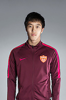 Portrait of Chinese soccer player Li Junyu of Yanbian Funde F.C. for the 2017 Chinese Football Association Super League, in Namhae County, South Gyeongsang Province, South Korea, 11 February 2017.