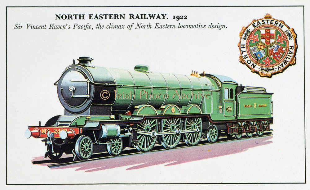 North Easter Railway Pacific class 4-6-2 steam locomotive designed for express passenger work by Sir Vincent Raven (1859-1934), 1922. Transport Mechanical Engineering England Britain