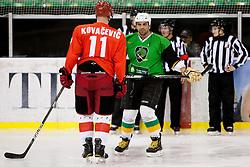 Senad Kovacevic of Jesenice during Humanitarian hockey derby of legends between Olimpija and Jesenice, on 7 March 2014, in Hala Tivoli, Ljubljana, Slovenia. Photo by Urban Urbanc / Sportida.com