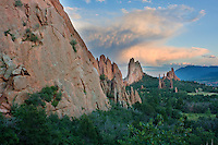 Sunset in July in the Garden of the Gods in Colorado Springs