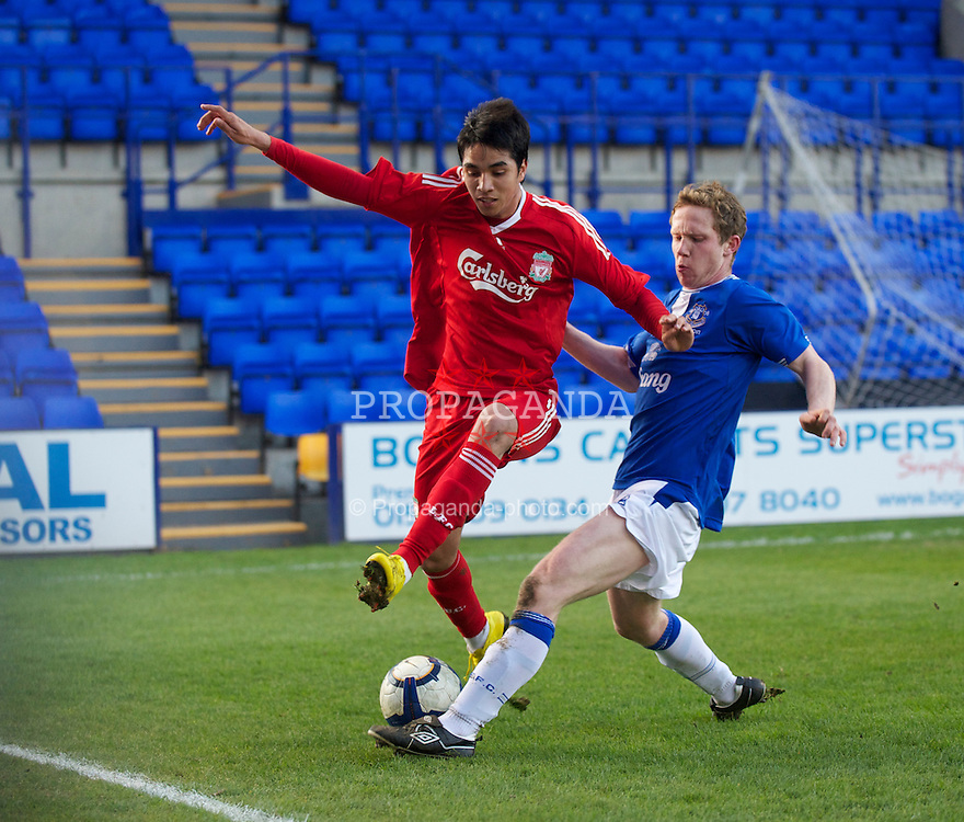 BIRKENHEAD, ENGLAND - Tuesday, April 20, 2010: Liverpool's Gerardo Alfredo Bruna Blanco during the FA Premiership Reserves League (Northern Division) match against Everton at Prenton Park. (Photo by David Rawcliffe/Propaganda)