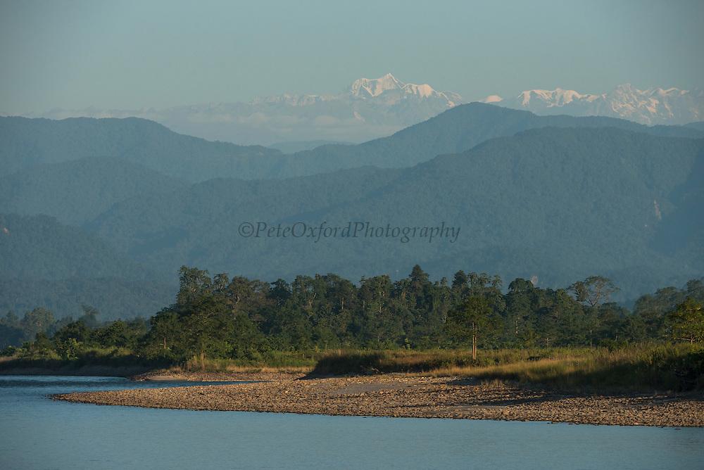 Jai Bhoralli River & Mount Gorichand<br /> Nameri Wildlife Reserve<br /> Assam<br /> North East India