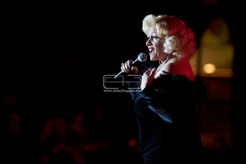 February 22, 2016. Las Vegas, Nevada.  The 22nd Reel Awards and Tribute Artist Convention in Las Vegas. Celebrity lookalikes from all over the world gathered at the Golden Nugget Hotel for the annual event. Pictured is  Bette Midler lookalike, Sherie Rae.<br /> Copyright John Chapple / www.JohnChapple.com /