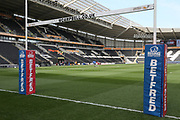 A general view inside the stadium prior to the Betfred Super League match between Hull FC and Hull Kingston Rovers at Kingston Communications Stadium, Hull, United Kingdom on 19 April 2019.
