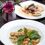 August 18, 2012 - New Rochelle, NY : Posto 22, located at 22 Division Street in New Rochelle, NY, serves gourmet Italian cuisine from it's classic dining room. Pictured here, the homemade gnocchi special -- made with sun-dried tomatoes, asparagus, shrimp, and pesto cream. CREDIT: Karsten Moran for The New York Times