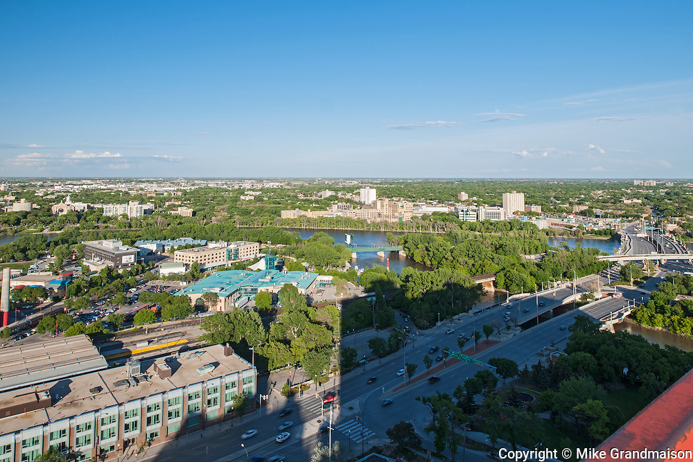 Aerial view of Winnipeg's St. Boniface neighbourhood<br /> Winnipeg<br /> Manitoba<br /> Canada