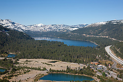 """Donner Lake Aerial 1"" - Photograph of Donner Lake in Truckee, California. Shot from an amphibious seaplane with the door removed."