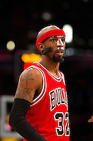 """25 December 2011: Guard Richard """"Rip"""" Hamilton of the Chicago Bulls against the Los Angeles Lakers during the first half of the Bulls 88-87 victory over the Lakers at the STAPLES Center in Los Angeles, CA."""