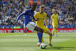May 12, 2019 - Leicester, England, United Kingdom - Leicester City midfielder Wilfred Ndidi battling with Jorginho of Chelsea during the Premier League match between Leicester City and Chelsea at the King Power Stadium, Leicester on Sunday 12th May 2019. (Credit Image: © Mi News/NurPhoto via ZUMA Press)
