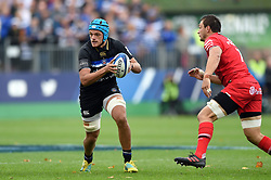 Zach Mercer of Bath Rugby in possession - Mandatory byline: Patrick Khachfe/JMP - 07966 386802 - 13/10/2018 - RUGBY UNION - The Recreation Ground - Bath, England - Bath Rugby v Toulouse - Heineken Champions Cup