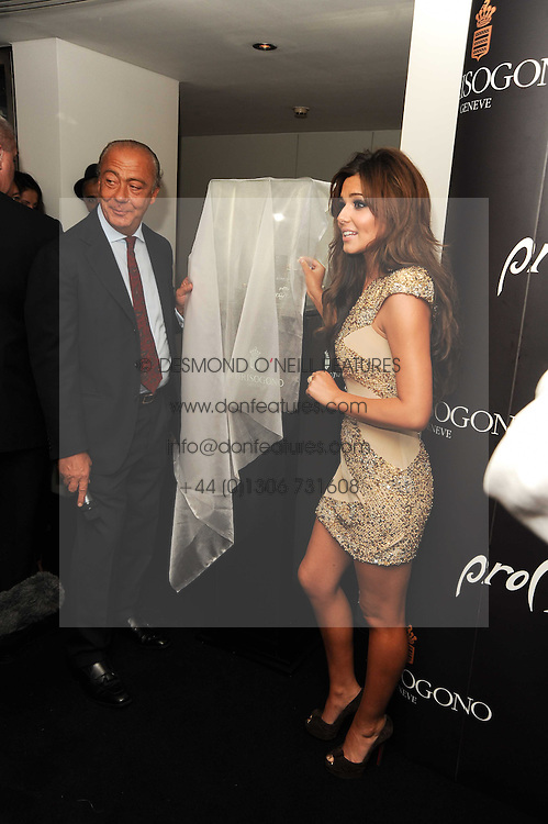 CHERYL COLE and FAWAZ GRUOSI at the launch party for 'Promise', a new capsule ring collection created by Cheryl Cole and de Grisogono held at Nobu, Park Lane, London on 29th September 2010.